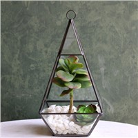 Hanging Glass Terrarium Airplants Glass Bottle Home Decoration Metal Frame Glass Vase