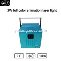 2016 high power 3W RGB full color animation laser 3D stage light