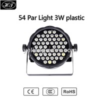 54pcs 3W RGBW LED Plastic Case Full Color Par Light for Disco DJ Night Club Stage