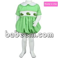 Crocodile hand smocked bubbles for boys - BB221