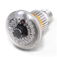 EAZZYDV Wireless Mini Bulb-shaped Hidden DVR Camera with Invisible IR Light At Night