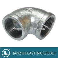 UL/FM/CE 90 Equal Elbows Galvanized/Black Malleable pipe fitting