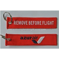 Wholesale Cabin Crew Azur Air Custom Logo Embroidery Fabric Keychain Personalized Gifts