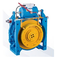 32 Poles Gearless Traction Machine 3000kg Shaft Load , 2.0m/s WWTY8(1000KG)