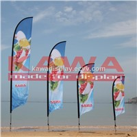 Advertising outdoor knife feather flag banner pole
