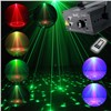 Mini 3 Lens 24 Patterns LED Laser Projector Stage Lighting 3W Blue DJ Disco Party Club Laser