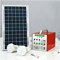 40 Hours Lighting Time Best Price 5W Solar Home Lighting System with Brightness Adjustment Function
