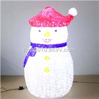 H:1.8m W:1.1m 3d outdoor fat snowman for Xmas decorative