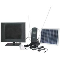 Solar Power DC LED Color TV with Lights for Africa