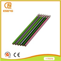 Metallic Colorful Stripe HB Pencil With Eraser