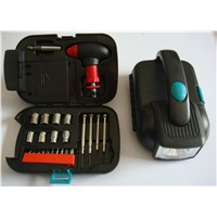 24 Piece Hand Tool Set With Torch Light