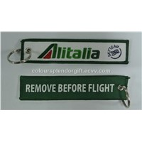 Alitalia Skyteam Remove Before Flight with Customized Embroidered Logo, Accept Any Color and Size