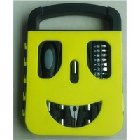 22 Piece Smile Shaped Hand Tool Set Kit