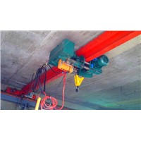 HD model single girder overhead crane with low headroom electric hoist