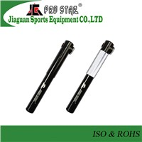 Mini CNC machined Double Action High Pressure Bicycle Pump With Gauge