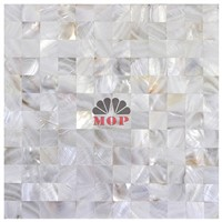 white mother of pearl mosaic tile wall board