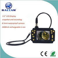 "3.5"" TFT LCD display waterproof 450,000 pixels portable video borescope with rechargeable battery"