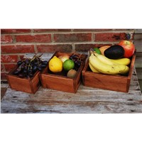 Fruit Holder, Wooden Fruit Holder for Kitchen, Set of 3