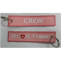 Hey Love Its Mine CREW Embroidery Keychains