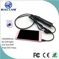 IP67 Waterproof 1.3MP 7mm android endoscope for auto maintenance and repair