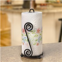 Paper Towel Holder Kitchen, Scroll Wire Design