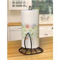 Twist Wire Metal Paper Towel Holder, Black Finish