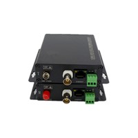 Outdoor RS485 data Ethernet HDTVI to fiber converter forTVI with PTZ data&1ch 10/100M ethernet
