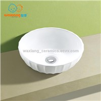 Waxiang WC-2068A Bathroom Porcelain Ceramic Vessel Vanity Sink Art Basin Ripple-Design