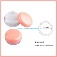 Empty loose powder jar with sifter, cosmetic loose powder jar