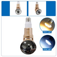 HD960P Wireless P2P Bulb IP Hidden Camera with LED Light and Remote Control