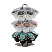 360 Degree Metal Table Stand Keurig Coffee Pod Holder for 21 K-cup