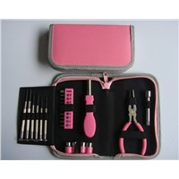 23pcs percision hand tools general purpose tool kits women tool set with zip bag