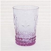 Glass Water Cup Colored Drinking Set