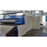 Non-adhesive thermo bonding wadding production line