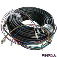 FA-WPC-SPSPM04, Outdoor Waterproof Multi-fiber Patch Cable, SC/PC-SC/PC,MM,4F