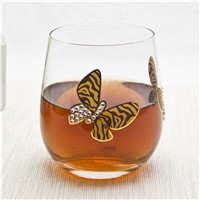 Mouth Blown Clear Glass Whisk Cup
