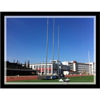 stainless steel manual external halyard system flag pole