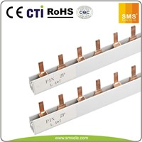 PIN Type 2P Red Copper Insulated Busbar for MCB