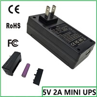 mini ups battery homage ups 5v 2a online ups and adapter 2 in 1