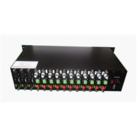2U rack mount chassis for SDI fiber video converter