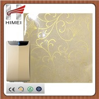 Flower film coated metal laminated steel sheet for air cleaner