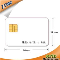 HOT!!!!!!!! blank white overlay card with chip