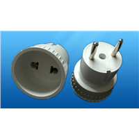 European style electrical plug with socket adapter (YK207)