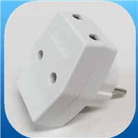 EU style 2 pins plug with 3 socket adapters (YK215)