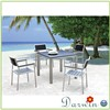 Outdoor furniture wood plywood 4 seaters table and chairs