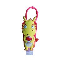 Custom Cute animal keychain silicone hand sanitizer holders