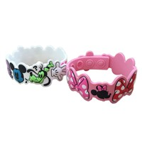 Kids favourite micky customize soft silicone bracelet wristband