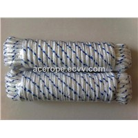 Wht/Blue Tracer Diamond Braided Poly Rope