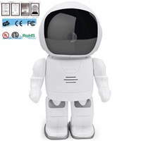 HD 960P Home Security Robot P/T WiFi wireless IP Camera With Micrphone/Speaker/SD Card Slot
