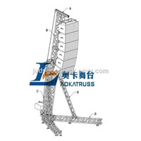 Aluminum truss,speaker truss stand,used light truss stand